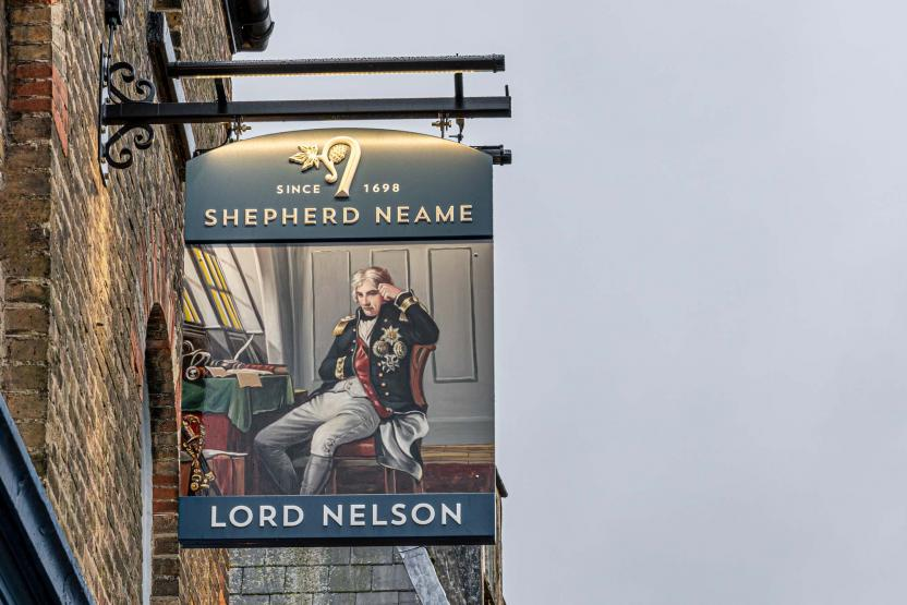 Lord Nelson Dover pub sign