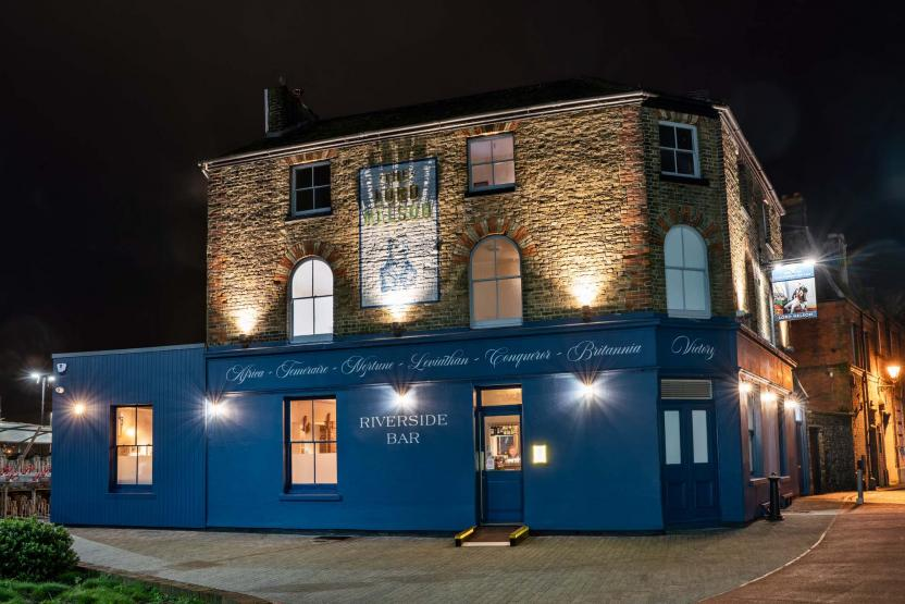 Lord Nelson Dover at night, refurbished