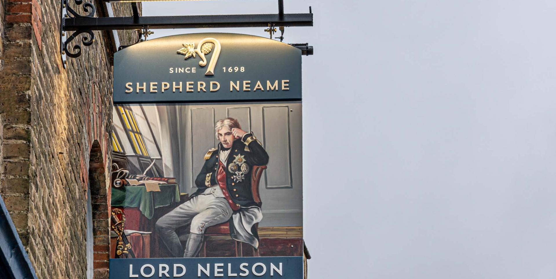 Lord Nelson Dover swing sign